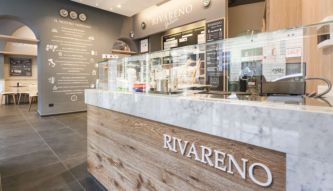 Desing Rivareno per gelaterie in franchising
